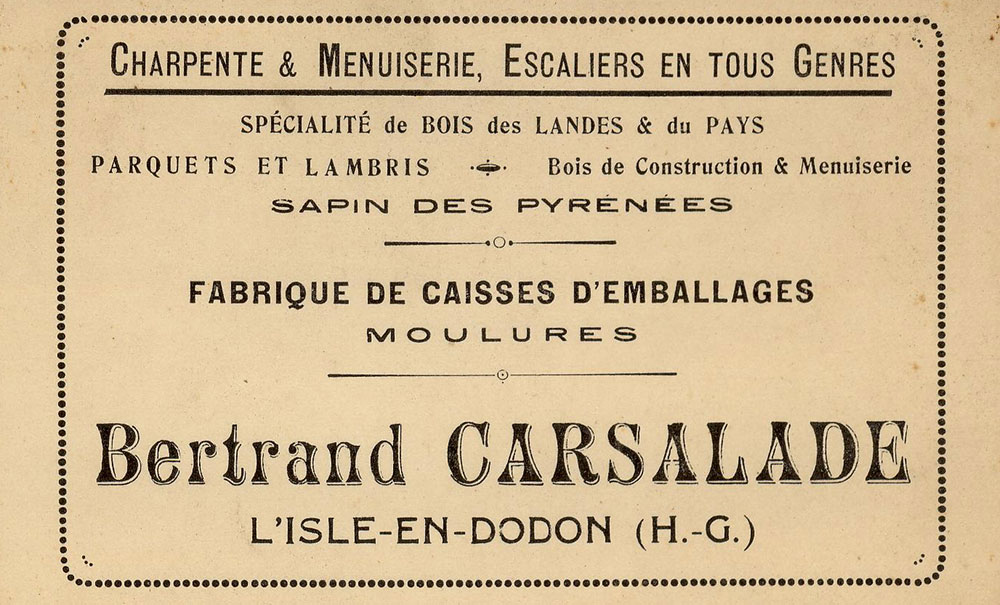 Le fondateur : Bertrand Carsalade